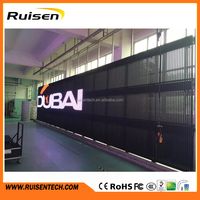 Waterproof IC MBI5024 P25 Transparent Grid LED Display Mesh LED Screen LED Strip Screen for Glass Window Building or Stage etc
