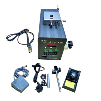 UL-390 soldering station with automatic solder feeder