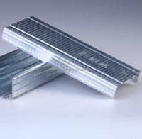 Stud and Track Metal Building Materials for Drywall Partition System