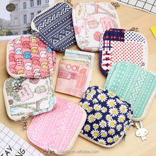Huiqi carton flower coin purse with chain sanitary pad bag