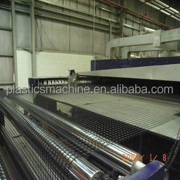Professional factory PP / HDPE geogrid production line