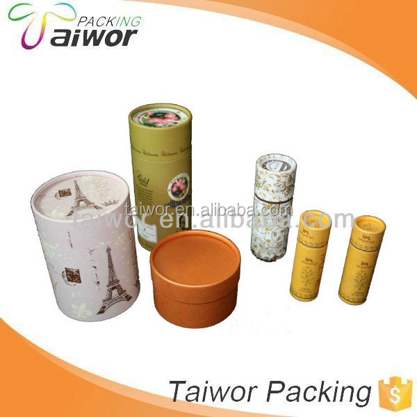 Custom round tea box cylinder paper packaging box