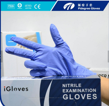 M3.5g Disposable Nitrile Gloves Colorful blue/purple/white/black Medicial Nitrile Exam Gloves for Medial use