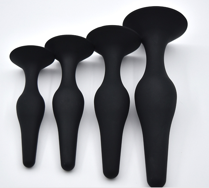Silicone four sets anal plug sex toys