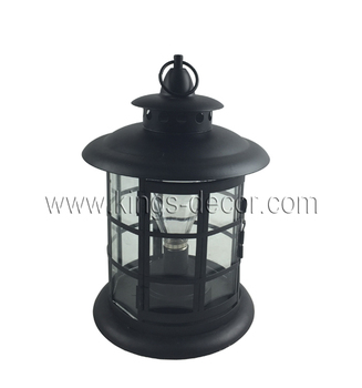 Home & garden decoration black metal lantern