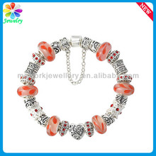925 Silver Beads European Style Bracelet for Kids Metal Mother of Pearl Wrap Bracelet