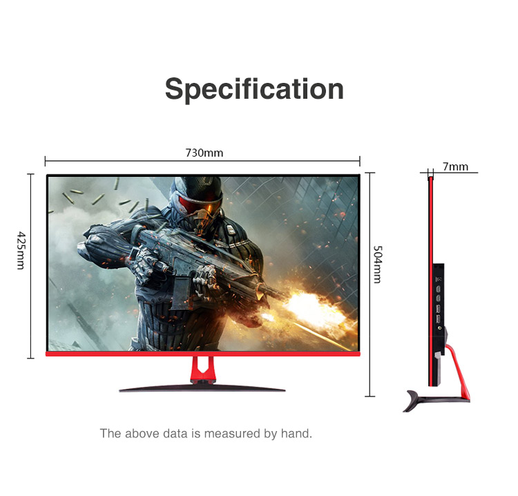 Professional 32 Inch 4K UHD screen 3840*2160 gaming screen computer Monitor for PS CAD Artwork design