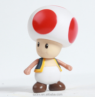 personal cartoon mushroom vinyl figure plastic injection action figure for promotion