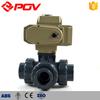 CWX-15Q vertical 3-way electric ball valve for water treatment