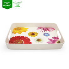 plastic indian melamine china beautiful bamboo fiber serving tray