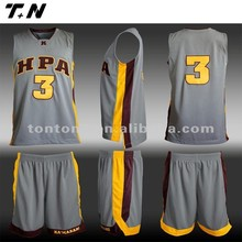 New style short sleeve men's basketball jersey