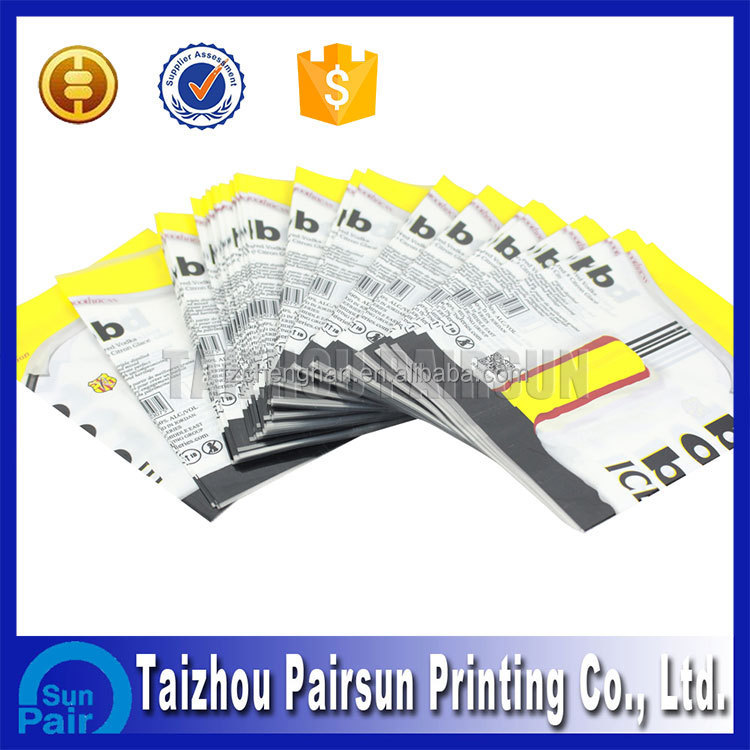 Screen printed adhesive label sticker for bottle packaging