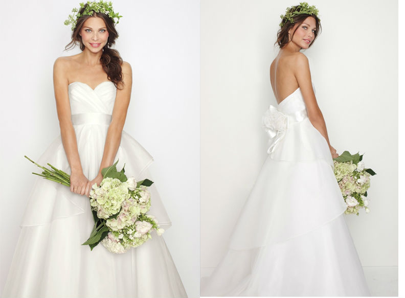 WD1595 strapless white gown with silver sash sexy low cut back with flowers empire waist maternity wedding dresses