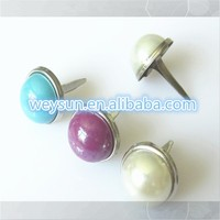 Decorative pearl brads for scrapbooking