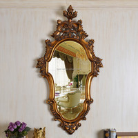 PU114 Antique Style Living Room Wall Decorative Resin Mirror