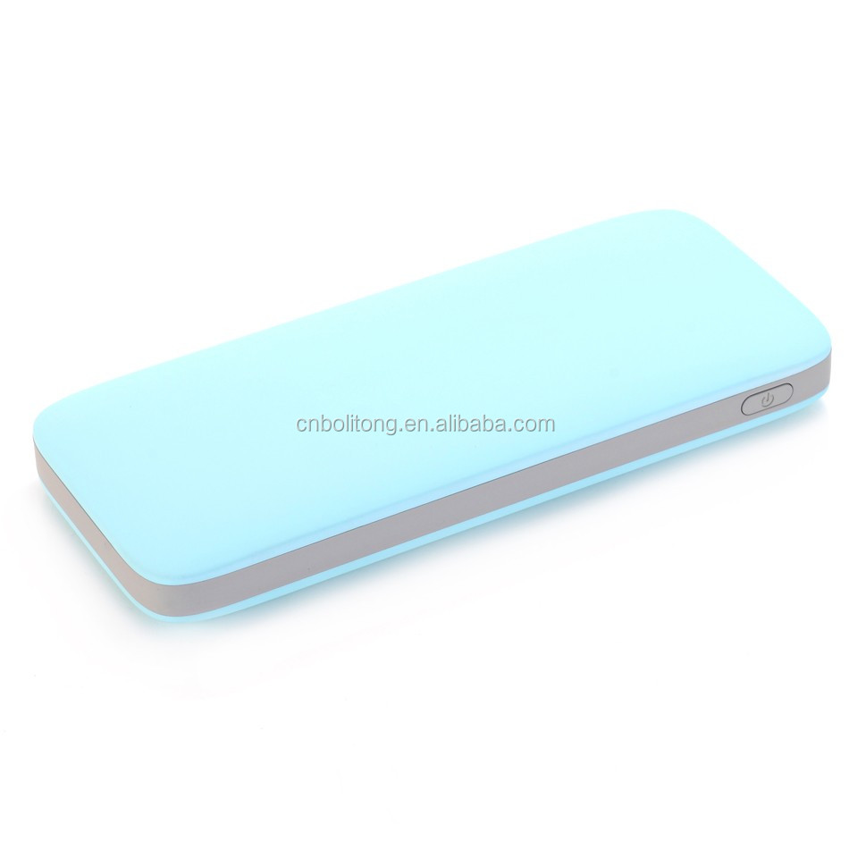 Excellent Li-polymer battery universal mobile 8000mah fast charger QC2.0 quick wireless charger power bank for smart phone