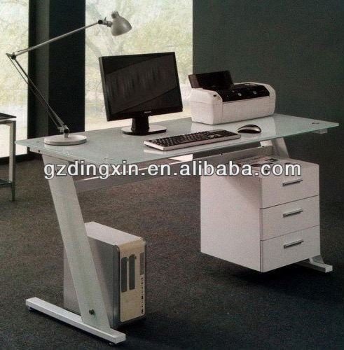 Glass table office computer (DX-X3)