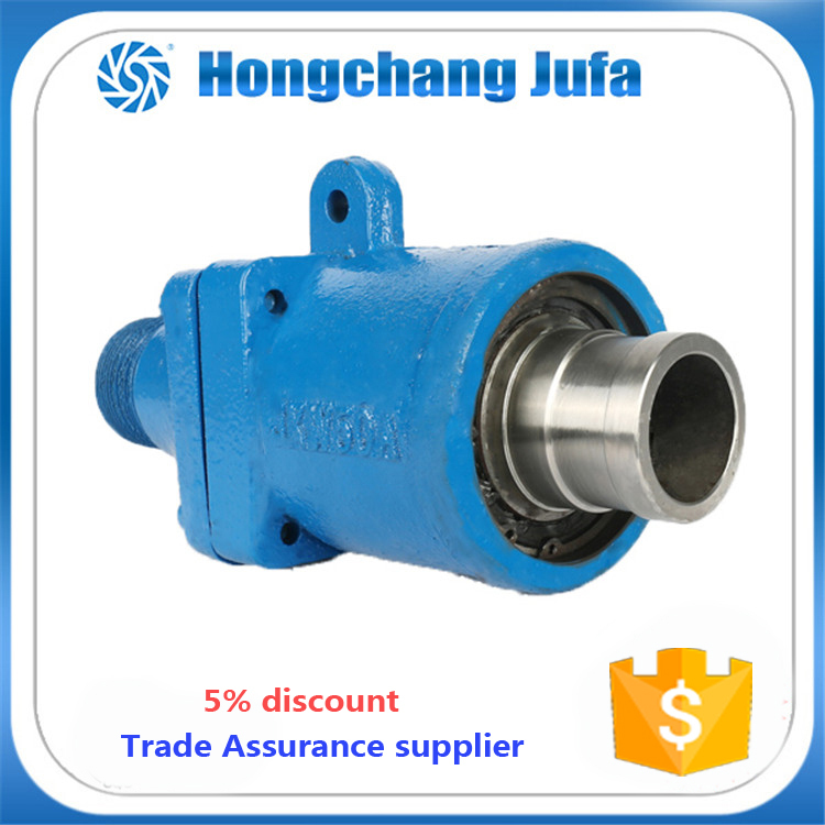 dual flow passage flange connection hydraulic rotary joints water swivel joint
