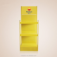Yellow Lubricating Oil Metal Display Stand