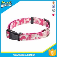 Eco-Friendly Material Pink Dog Collars