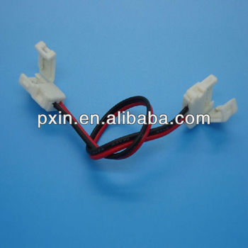 8mm 3528 led strip connector with wire for single color