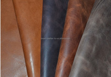 China crazy horse hide crazy horse leather