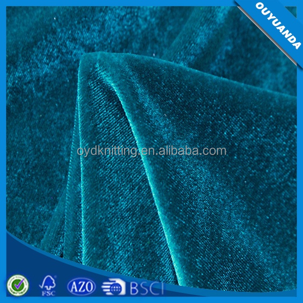 Factory Price 92 Polyester 8 Spandex Silk Velvet Fabric Use for Shoes ,Bags ,Accessories