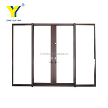 4 panel aluminum sliding door / entertainer sliding doors / entry doors glass australian