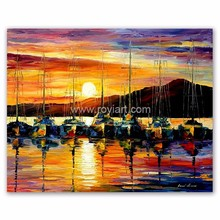 Wall art decoration beautiful scenery knife oil painting on canvas