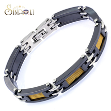 Stainless Steel Mesh Tennis Bracelet Men Gold Plated Jewelry