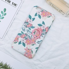 Hot Matte PC Material Flowers Design Protective Edge Phone Case for iphone 6s plus case cover