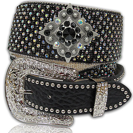 Fashion new ladies western bridal crystal beaded bling rhinestone chain belts for dress