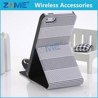 High Snap Durability Stripe PU Aztec Leather Case For Smart Mobile Phone