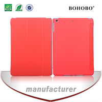 Sided veneer four fold leather case for ipad 5 air with sleep function