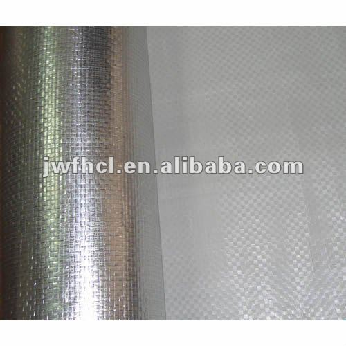 aluminum foil laminated with woven fabric or kraft paper for heat insulation