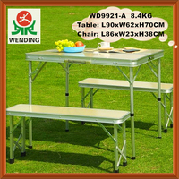 Good quality Outdoor folding picnic MDF and aluminum table and bench