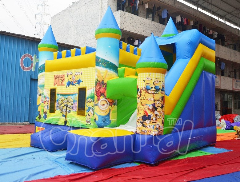 minion inflatable bounce house, inflatable jumping bounce slide, bounce castle for sale