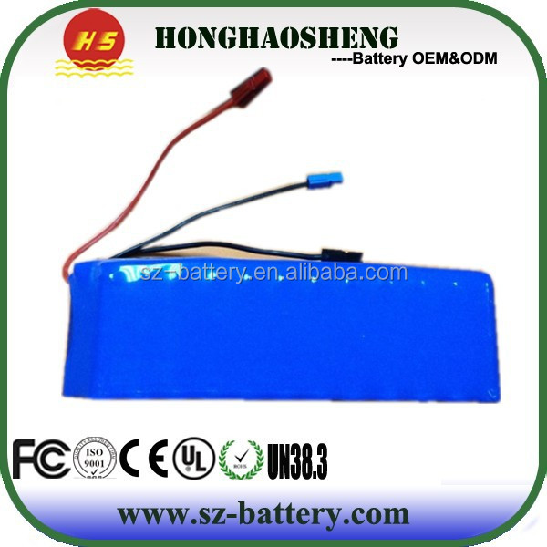 factory price 36v 10ah lipo ebike battery pack with BMS for elctric bicycle
