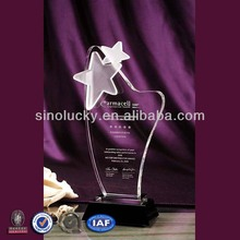 2014 Cheap Acrylic Plastic Awards Trophy Medal Stand with Your Logo