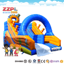 Factory price infaltable bouncy slides , Inflatable Stair Slide Toys ,inflatable double lane slip slide