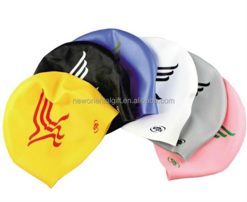 Seamless Round Silicone Swimming Cap/Printing Swimming Cap