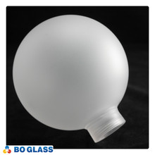China factory E27 screw frosted globe bulb high borosilicate glass lamp shade