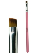 Emily Cheap Pink Angle Eyebrow Brush Cosmetic Eyebrow Brush Wholesale