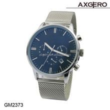 New design China supplier fashion custom men's quartz chronograph watch, stainless steel watch man