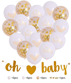 Baby Birthday Decoration Balloon Confetti Insiden  Party Decoration Round Shape Air Helium Globos For Baby Birthday Party