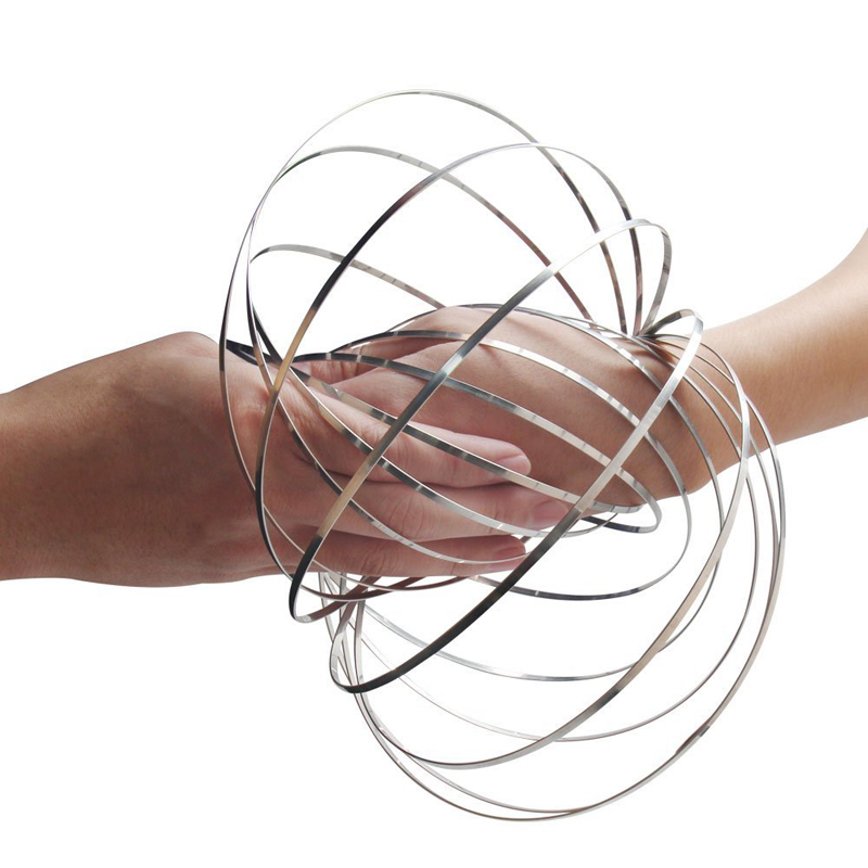 Flow Ring Magic Ring Kinetic 3D Spring <strong>Toy</strong> Sculpture Ring Game <strong>Toy</strong> For Kids
