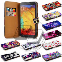 For Samsung Galaxy Note 3 Case Print Flip PU Folio Wallet Book Style Leather Case Cover Moible Phone Csaes