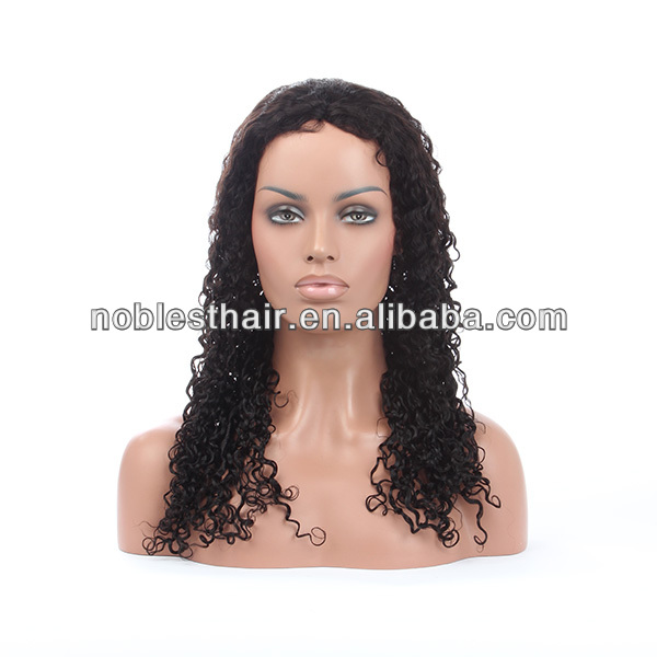 wholesale indian remy full lace curly wig 100% virgin brazilian hair natural color straight French Swiss transparent brown Lace