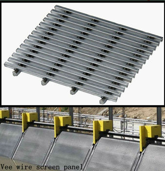 Corrosion resistance wear life sizing of solids vee wire screen panel
