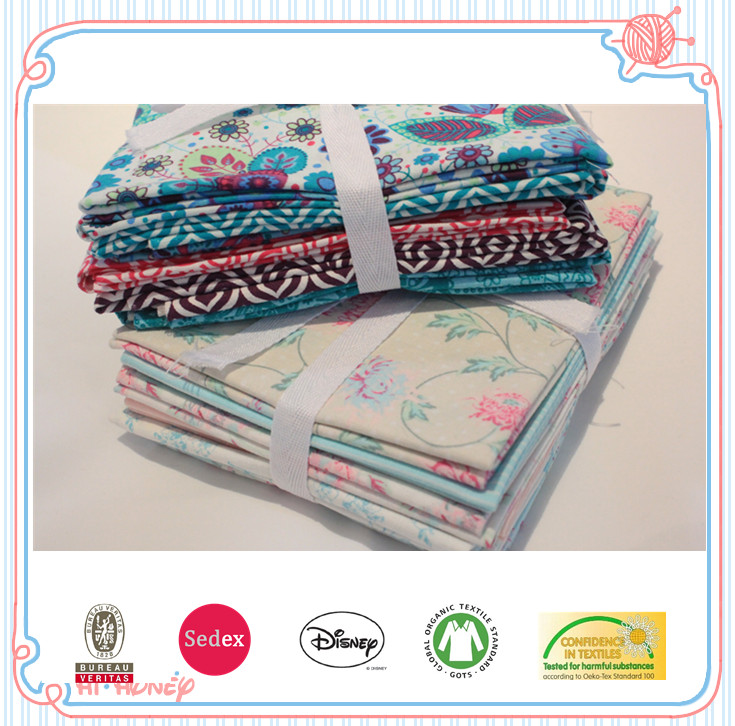 cheap cotton quilting fabric patchwork fabric fat quarters no min order
